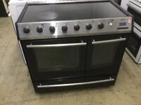 Belling Black and Silver Range Electric cooker
