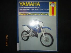 YAMAHA 1986 thru 2006 YZ80 YZ85 YZ125 YZ250 WORKSHOP MANUAL