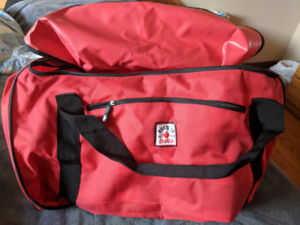 Roots 73 Red and Black Duffle Bag with Wheels