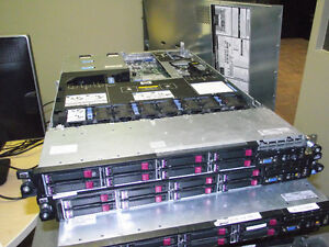 Six HP Proliant DL360 G7 servers : 2xE5640 4-core 2.53Ghz, >20GB