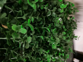 Artificial green plant wall / foliage to hang