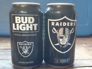 Budweiser - Canette Bud Light 2017 - Raiders Oakland (pleine).