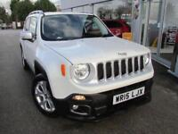 2015 Jeep Renegade 1.4 MultiAir II Limited 5dr Petrol white Manual