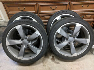 245/40ZR18 5X112 Audi tires and rims