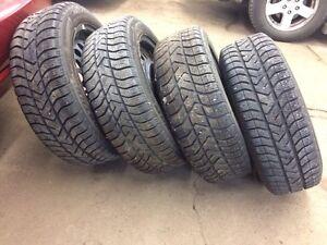 "15"" snow tires and rims (185 55 R15) Kawartha Lakes Peterborough Area image 2"