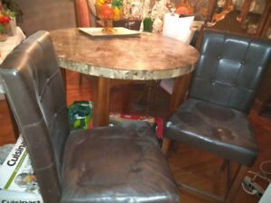 Pub style Dining room table and chairs