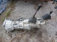 5 speed manual and 4x4  transfer case