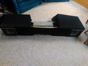 Custom sub box for 2000-2007 gmc and chevy extended cab pickups.