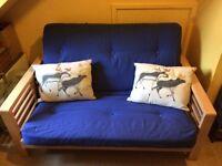 Double Wooden Futon Sofa Bed