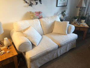 Down Filled Love Seat Sofa