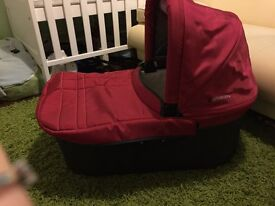 Red uppababy carry cot