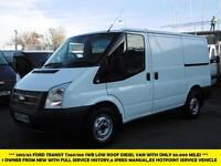 2012 FORD TRANSIT 260/100 SWB LOW ROOF DIESEL VAN *** 1 OWNER FROM NEW WITH ONLY