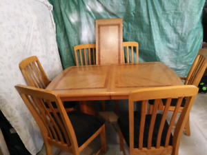 Table chairs and China cabinet