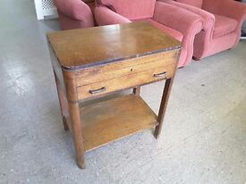 20% OFF ALL ITEMS SALE- Rare Joseph Rodgers & Sons Oak Cutlery Display Case / Table With Storage
