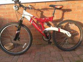 """Apollo abyss 26"""" full suspension mountain bike"""