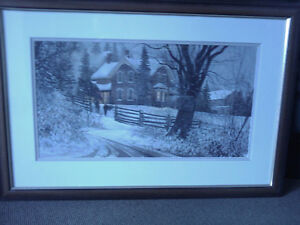 D. Laird Framed and Signed Print