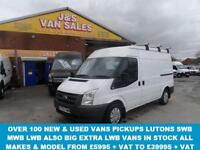 2010 60 FORD TRANSIT 2.2 280 MWB SEMI HITOP 1 LEASE OWNER ONLY 63000 MLS DIESEL