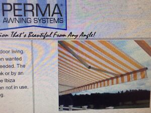 18ft w x10ft L RETRACTABLE AWNING