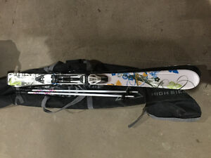 Salomon lady 153, Hawk, Fischer skis with boots, poles and bags