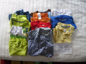 11 pcs 4T Boys short sleeve shirts