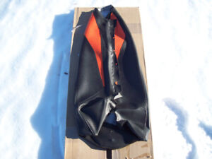 Skidoo seat with storage.   Seat covers