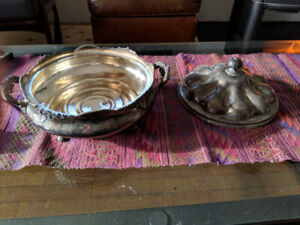 Sliver plated tureen