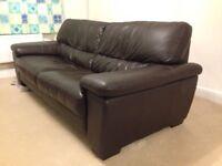 FREE! Leather 3 seater sofa