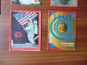 Time Magazines and News Paper on waik on the Moon London Ontario image 3