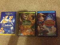 3x Classic Disney DVDs bargain price!