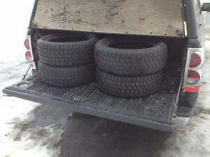selling 4-215/65r/16 winter tires  $200 749-1585