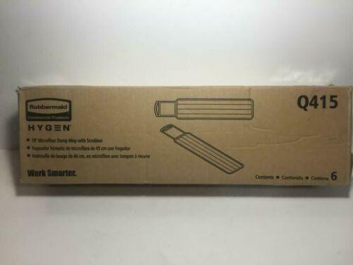 "Rubbermaid   Commercial   Hygen Microfiber   18""  Damp Mop    Q415     Lot of 6"