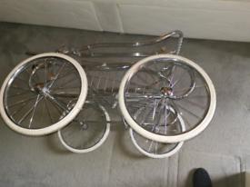 Vintage silver cross pram