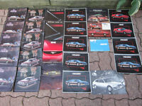 Fiero, Firebird, Cutlass, Fiat X1/9 Vintage Car Sales Brochures