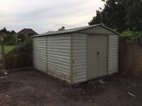 Metal shed 4m x 3m (approx.)