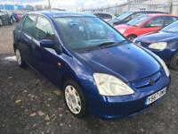 2001/Y Honda Civic 1.6i VTEC auto SE FULL MOT EXCELLENT RUNNER