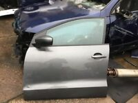 Vw Polo 96r nearside front door grey 10-17