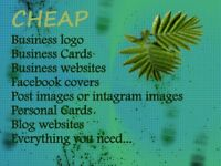 Cheap Logo, Business cards, websites, facebook covers design