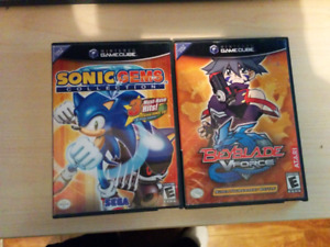 Sonic Gems collection + Beyblade 15$ Gamecube