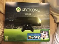 Xbox one with Fifa 16 500gb new sealed