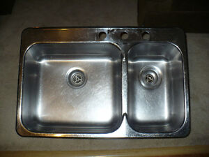 Waltec Double Stainless Kitchen  Sink