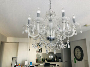Real Crystal Chandelier - Dt Toronto Pick Up - MOVE OUT SALE!