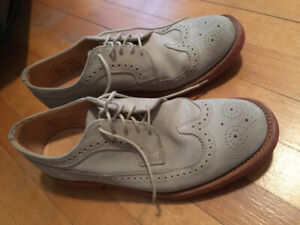 Stone suede Mark McNairy longwing brogue shoes men's 10.5