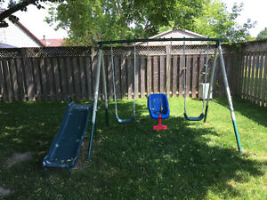 Swing Set from Canadian Tire like new