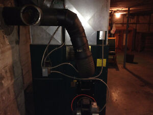 Newmac wood and oil furnace