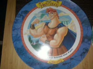 Disney Hercules 6 plate set with all different characters