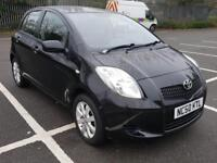 Toyota Yaris 1.3 VVT-i TR 2009 Manual Petrol Black VGC FSH 1F Owner Warranty