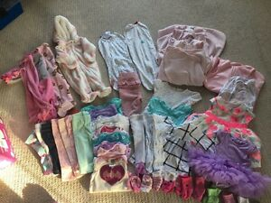 0-3 & 3-6 month girl clothing lot