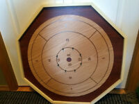 six in one pressboard Crokinole board & pieces