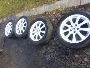 "Acura TSX OEM 17"" Rims, TPMS,  and Michelin Pilot Tires"