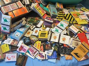 matchboxes and labels